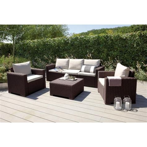 california salon de jardin 5 places aspect rotin tress 233 achat vente salon de jardin