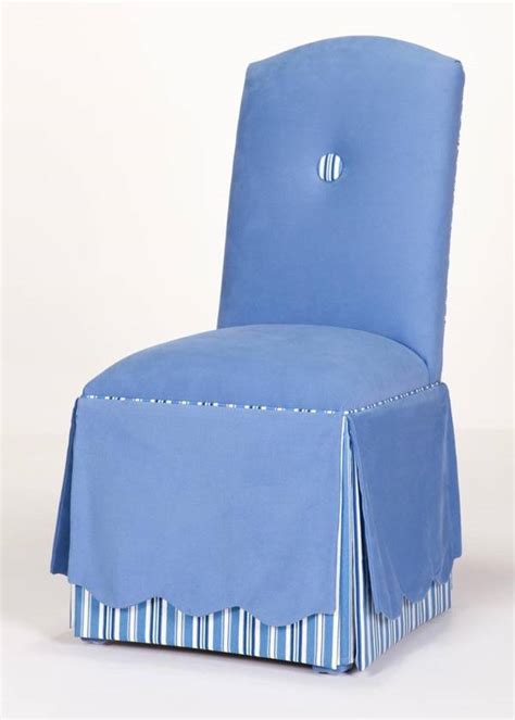charleston skirted parsons chair