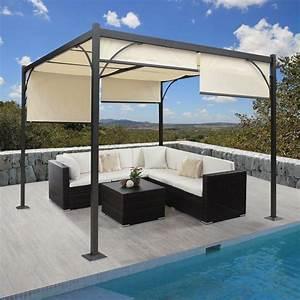 Sonnenschutz Für Terrasse : alu 3x3 m pavillon garten markise sonnenschutz terrassen berdachung sonnensegel ebay ~ Markanthonyermac.com Haus und Dekorationen