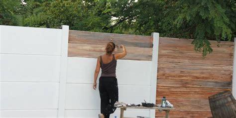 decoration peindre beton exterieur deco faux bois flotte isabelle bezaud plaques fibro ciment