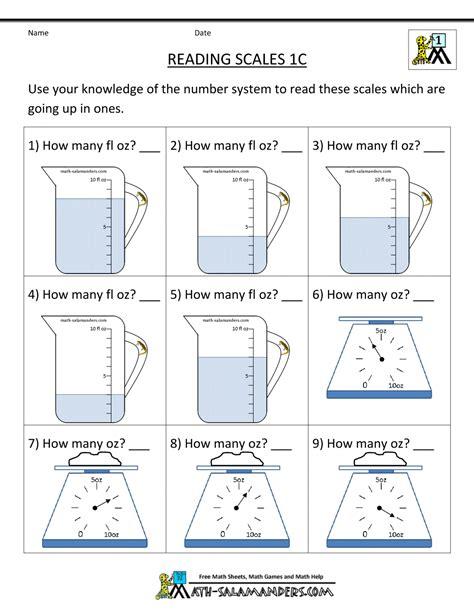 First Grade Measurement Worksheets