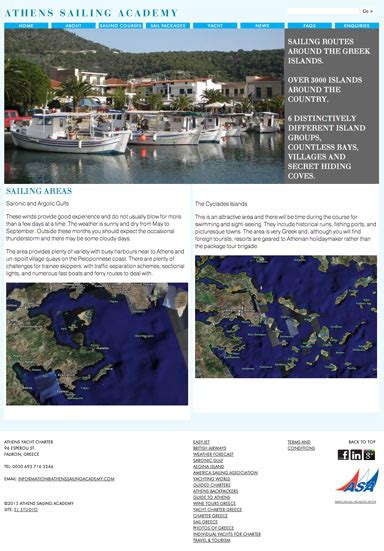 Sailing Academy Greece by Athens Yacht Charter Sailing Academy Websites El Studio