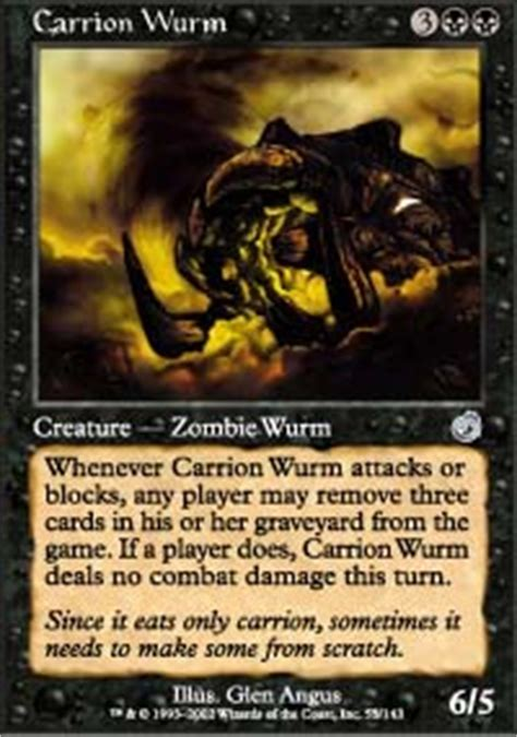 carrion wurm torment magic the gathering gaming store for cards miniatures