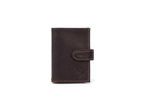 porte carte compact en cuir marron pour homme porte carte cuir 948