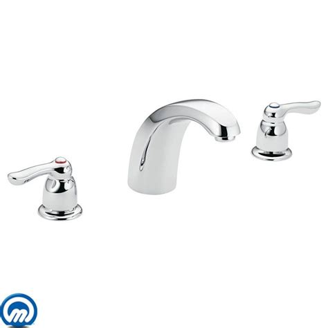 moen t994 chrome deck mounted tub faucet trim from