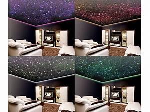 Sternenhimmel Kinderzimmer Decke : lunartec glasfaser rgb led sternenhimmel mit fernbedienung und 200 lichtfasern ~ Markanthonyermac.com Haus und Dekorationen