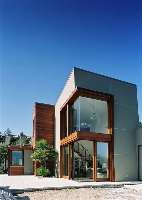 awesome modern architectural exterior home design nowoczesny dom z widokiem na wybrzeże