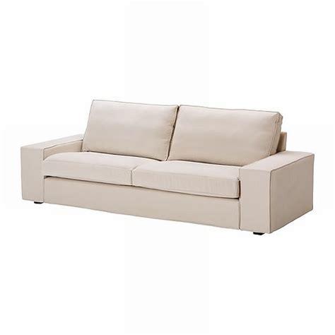 ikea kivik 3 seat sofa slipcover cover ingebo light beige bezug housse