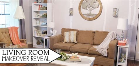 budget living room makeover reveal before after rollovers