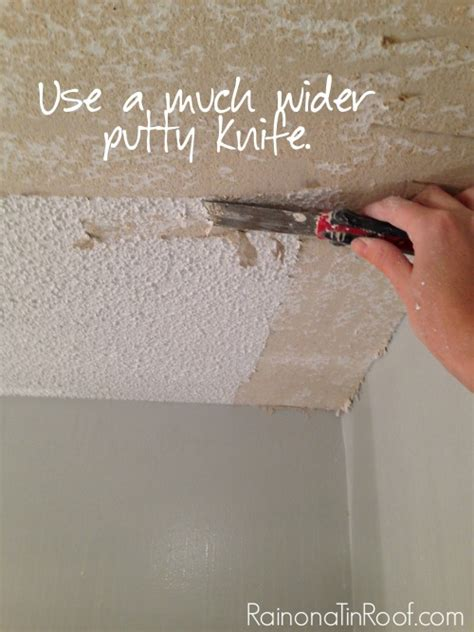 how and how not to remove popcorn ceilings
