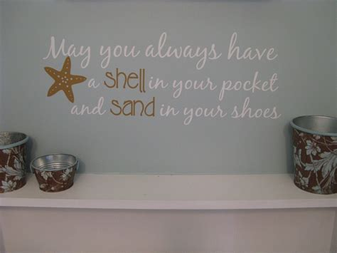 saying wall decal may you always shell in your