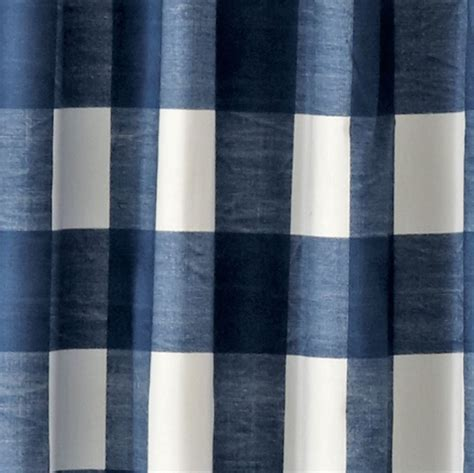buffalo check blue 96 quot blackout curtain the land of nod