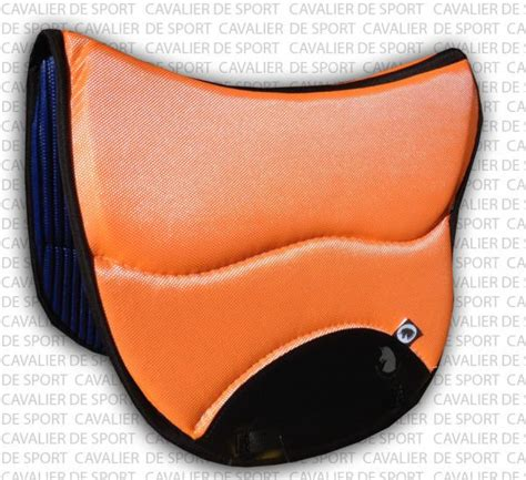 tapis de selle endurance burioni sympa textech orange mixte selle