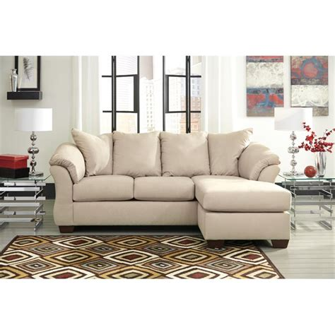 Ashley Darcy Sofa Chaise In Stone 7500018