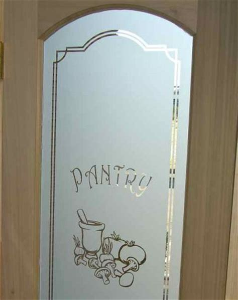 Pantry Door Glass Etched & Carved By Sans Soucie Sans