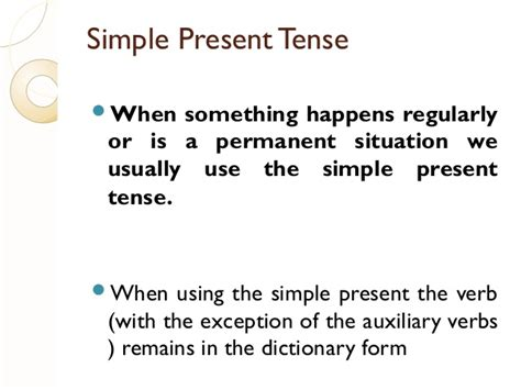 Examples Of Different Tenses
