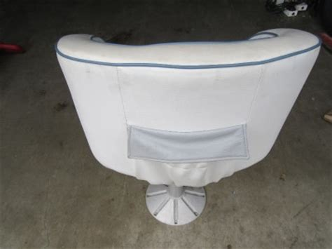 used pedestal chair captains seat invader 1987 white marine boat captian ebay