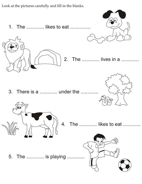 Look At The Pictures Carefully And Fill In The Blanks  Slp Vocab  Pinterest  Coloring, For