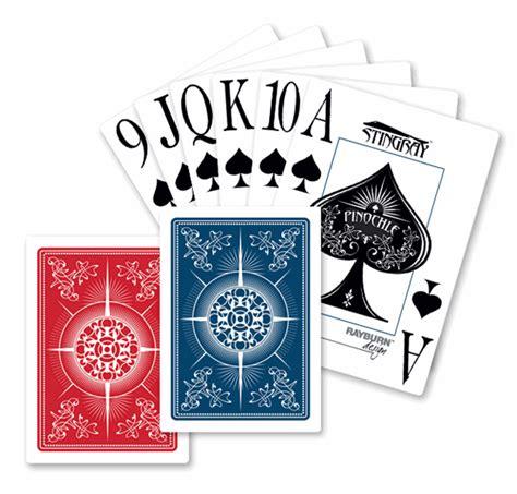 stingray pinochle index cards 2 decks