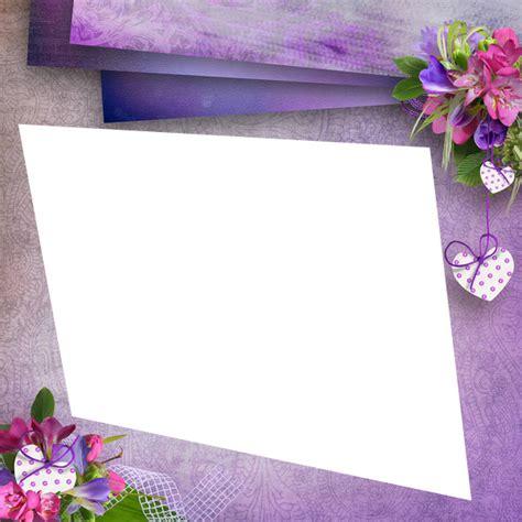 montage photo cadre violet fleurie petit coeur pixiz