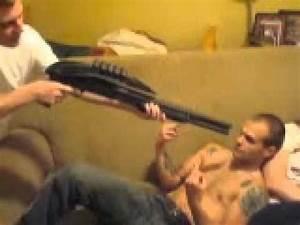 Redneck Shoots Guy in Face with Shotgun AirSoft Gun - YouTube