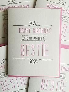 Geburtstagsgeschenk Basteln Freundin : birthday card for best friend card best friend birthday card letterpress birthday card for ~ Markanthonyermac.com Haus und Dekorationen