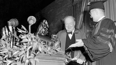 churchill delivers iron curtain speech mar 05 1946