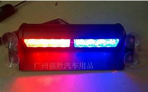 Blasting flash high power suction cup eight LED light red ...