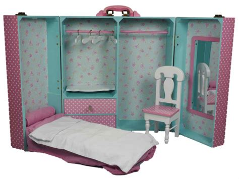 american doll furniture pink bedroom trunk furniture for 18 dolls american 168