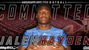 4-Star QB Jalen Mayden commits to Mississippi State - YouTube