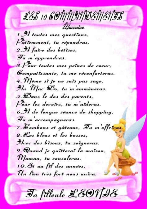 les 10 commandements de la marraine du parrain jesslolita doctissimo