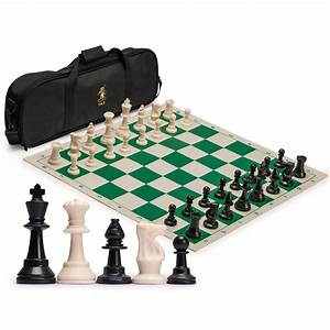 Play like a king! Full-sized tournament chess set with ...