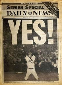 NY Daily News front page the day after the Mets won the ...