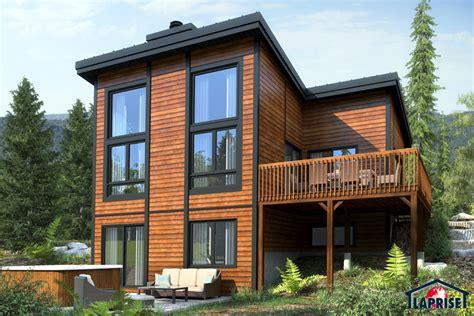 designer zen contemporary chalet waterfront homes lap0362 maison laprise