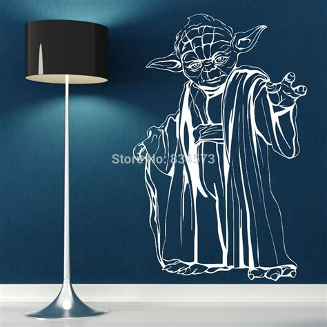 free shipping yoda wars wall sticker wall decal diy home decoration wall mural