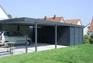 Aluminium Carport Mit Abstellraum : carport mit abstellraum metall 3 00m x 8 96m bxt ~ Markanthonyermac.com Haus und Dekorationen
