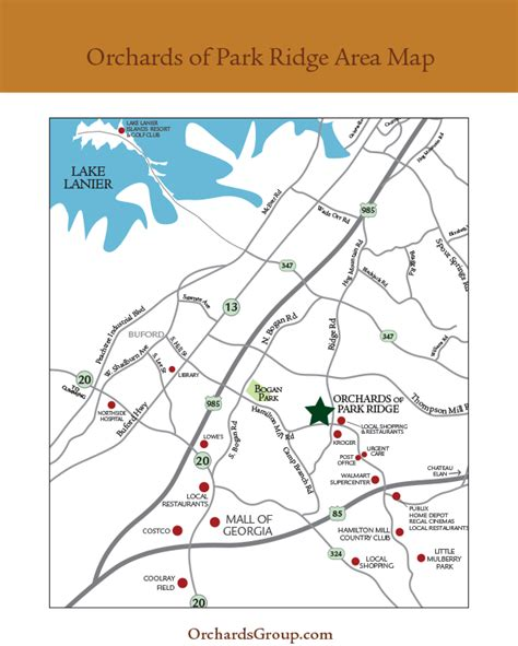 Park Ridge Siteplan And Areas Of Interest « Atlanta Active