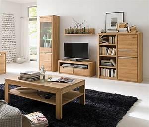 Wohnzimmer Eiche Massiv : wohnzimmer pisa 46 eiche bianco massiv 5 teilig wohnwand couchtisch wohnbereiche wohnzimmer ~ Markanthonyermac.com Haus und Dekorationen