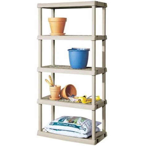 sterilite 01428501 4 shelf utility cabinet with putty handles platinum home furniture design