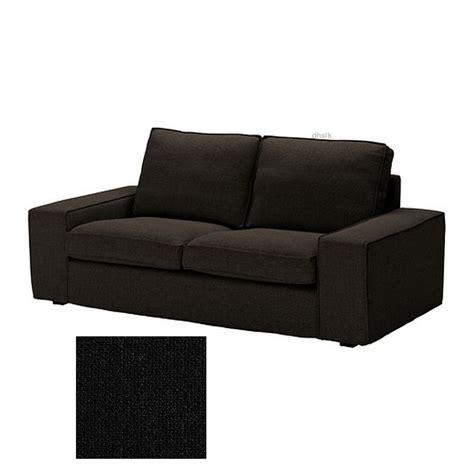 ikea kivik 2 seat loveseat sofa slipcover cover teno black