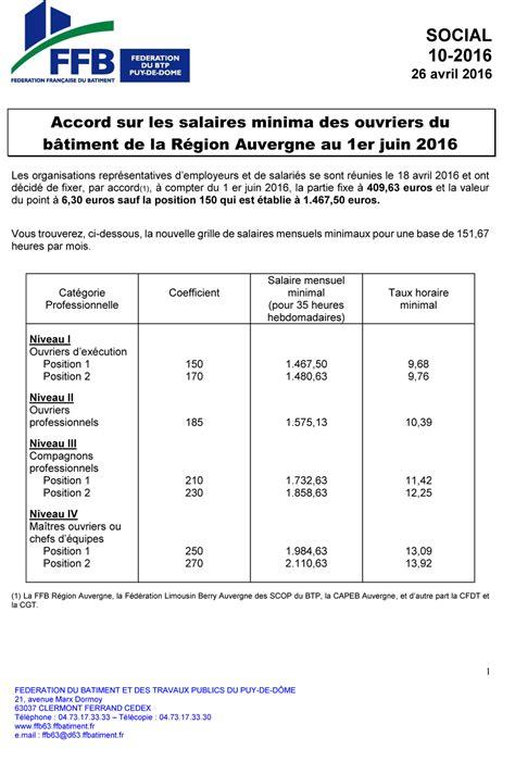 grille des salaires btp 2016 capeb newhairstylesformen2014