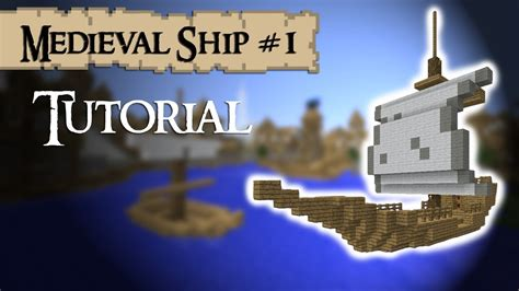 How To Make A Little Boat In Minecraft by Minecraft Tutorial How To Build A Medieval Ship Small