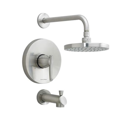 foret 1 handle pressure balanced shower faucet in stainless steel ss whl169700 the home