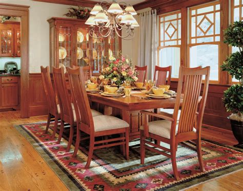 arts and crafts inspired dining room using bob timberlake furniture from the arts crafts