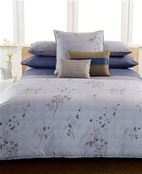 calvin klein home bamboo flowers bedding collection bedding collections bed bath macy s