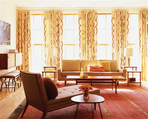 mid century modern curtains living room midcentury with australian ecclectic exposed beams
