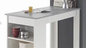 Bartisch Mit Regal : bartisch mojito moyito wei betonoptik inkl regal ~ Markanthonyermac.com Haus und Dekorationen