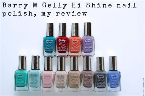 Barry M Gelly Hi Shine Nail Polish, My Review