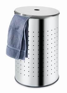 Wäschesammler Mit Deckel : w schesammler aus edelstahl in grau barrel m bel jack ~ Markanthonyermac.com Haus und Dekorationen