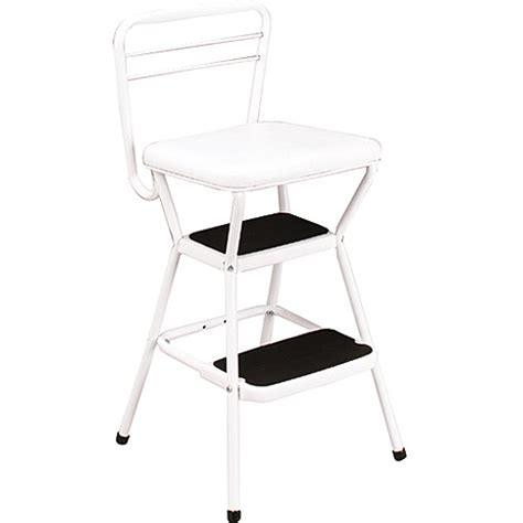 cosco chair with step stool white walmart